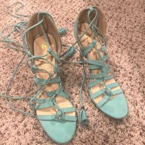 Tiffany blue 3 inch heels